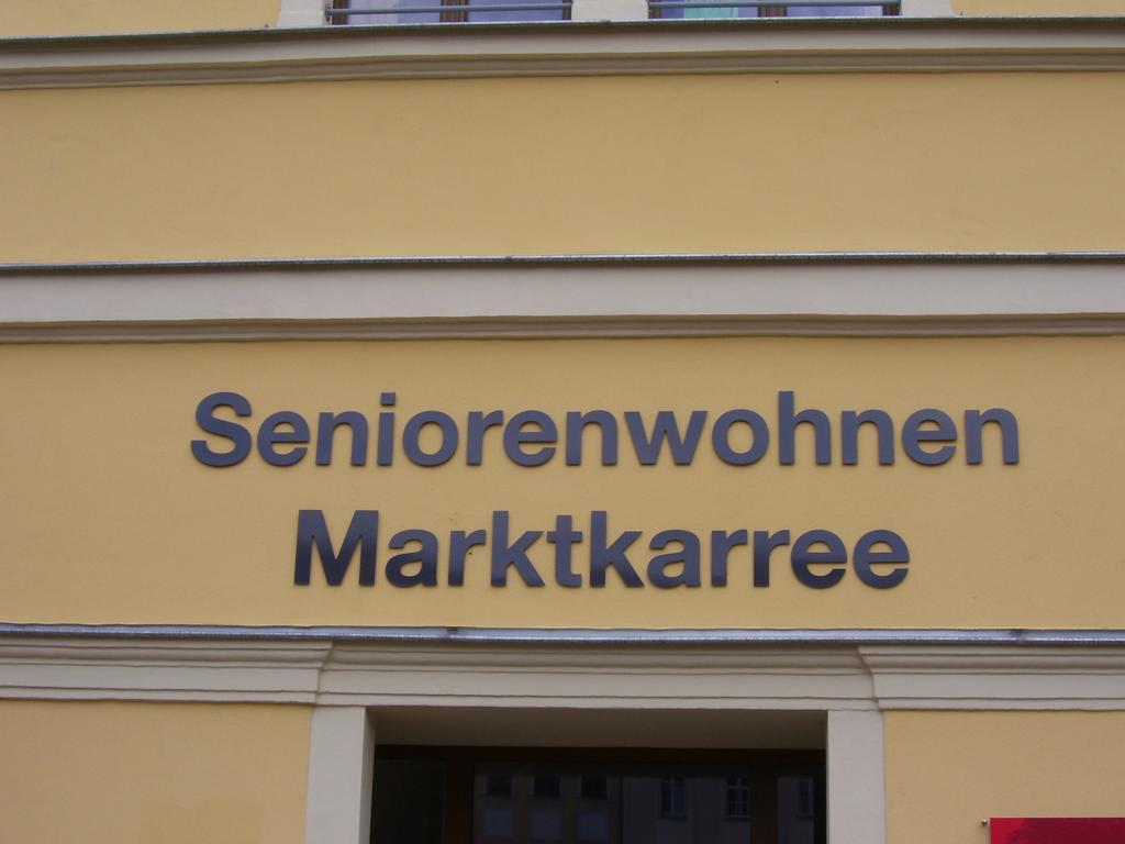 Einzelbuchstaben Seniorenwohnen Marktkarree