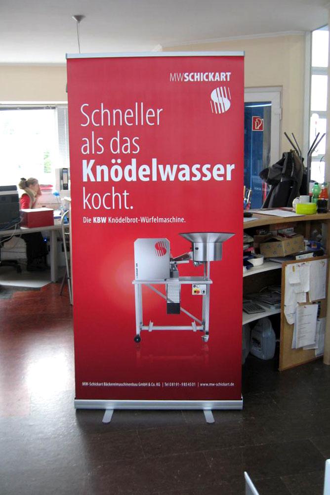 Rollup, Logo Werbung Landsberg