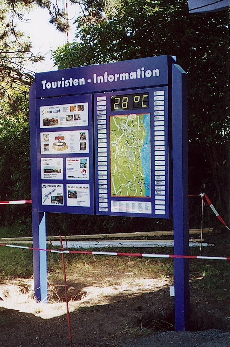 Tourist-Informationstafel