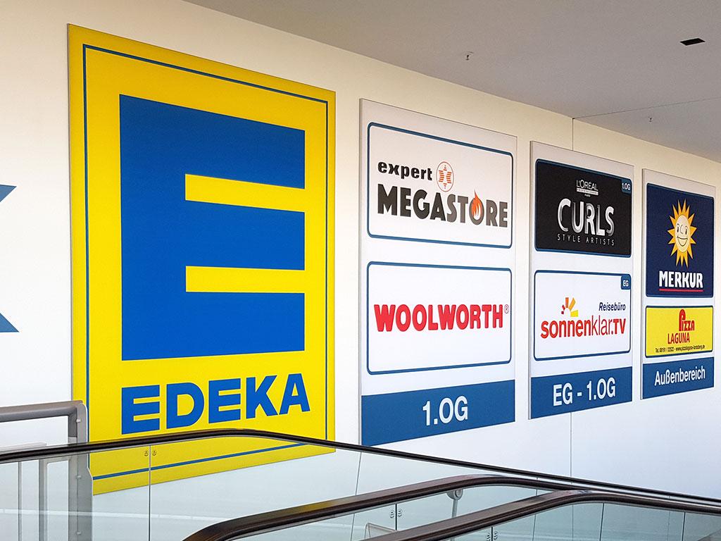 Schilder Einkaufscenter