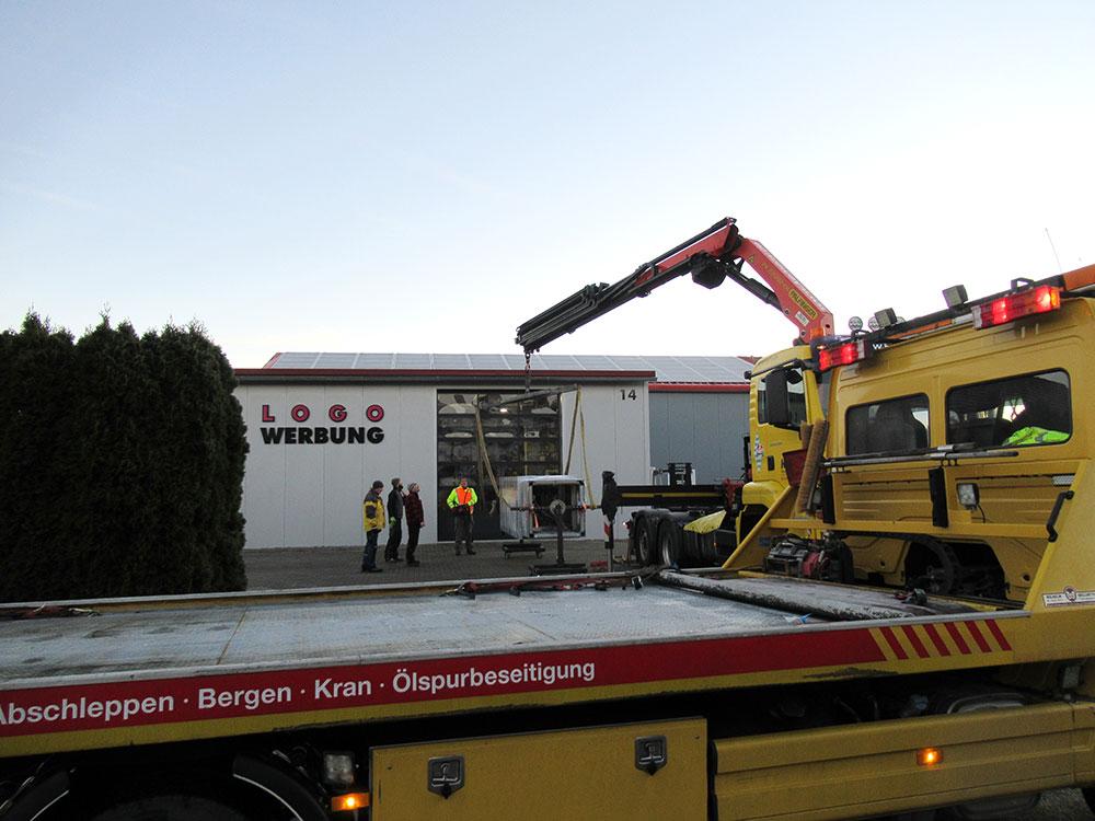 Sonderanfertigung Leuchtsäule Landsberg