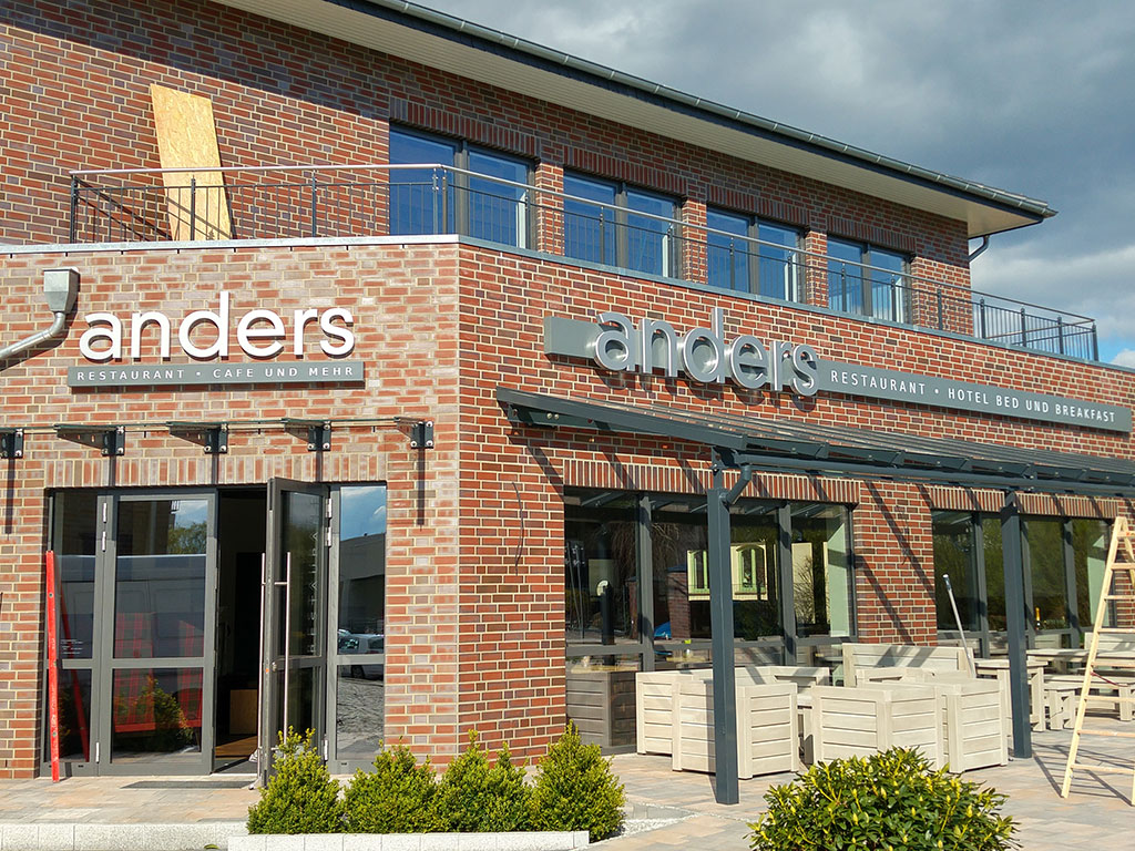 Einzelbuchstaben Restaurant Anders