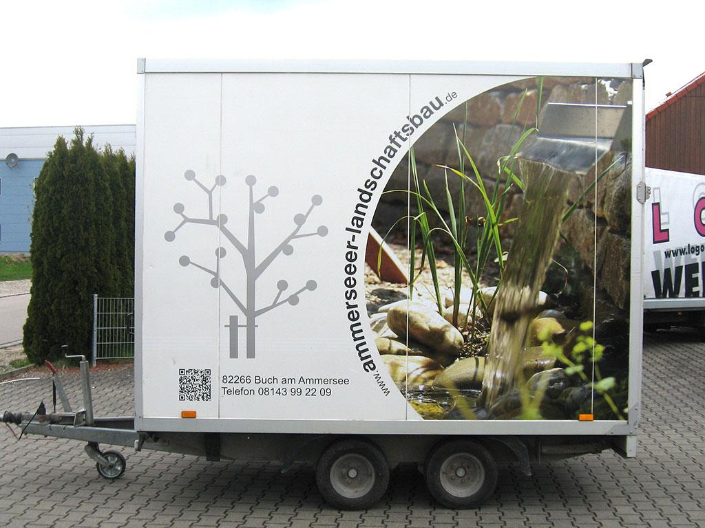 KFZ-Beschriftung Ammerseeer Landschaftsbau, Buch am Ammersee - Logo Werbung Landsberg
