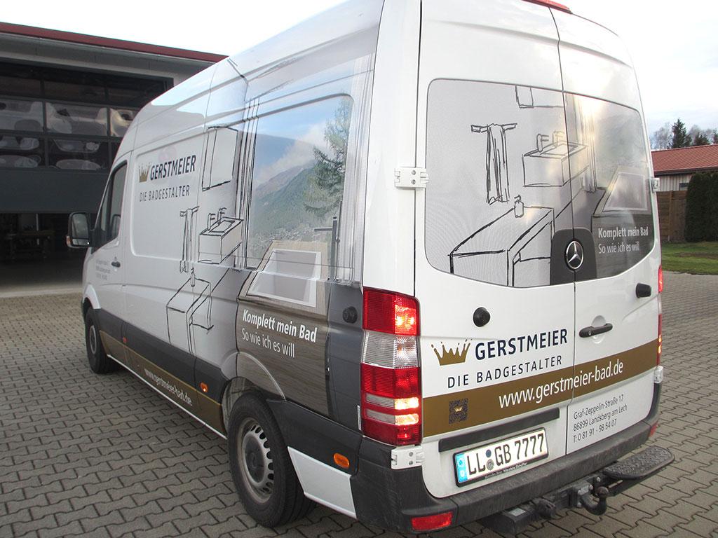 KFZ-Beschriftung Gerstmeier, Landsberg am Lech durch Logo Werbung Landsberg