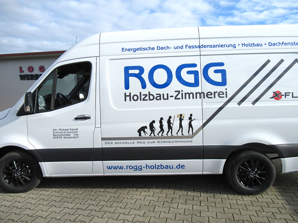 KFZ-Beschriftung Rogg Holzbau, Westendorf - Folienbeschriftung
